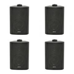 4x Adastra BC3V 60W 100V Background Speakers (Black)