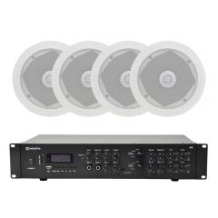 Adastra Ceiling Speaker Bundle inc 6x C5D Speaker + Adastra A4 Amplifier 4x 200W