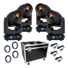 ADJ Focus Spot 4Z 200W LED Moving Head Zoom Package inc Flightcase / Cables DJ Disco