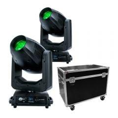 2x ADJ Vizi CMY300Hybrid 300W LED inc Flightcase