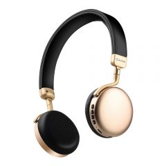av:link NEO: Metallic Bluetooth Headphones Gold FM Radio iPhone iPod