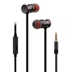 AV:Link Metallic Magnetic Stereo Earphones Black
