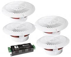 E-Audio 4 Way Bluetooth Ceiling Speaker Kit