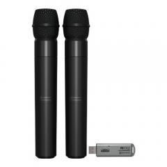 Behringer ULM202USB Dual Wireless UHF Handheld Microphone DJ Disco Karaoke