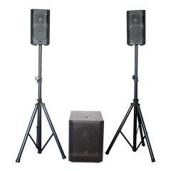 BST KE10-MKII 750W Sound System 2.1 Speaker DJ Disco PA System