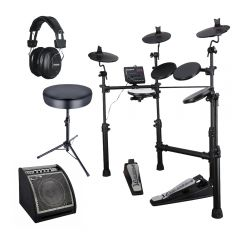 Carlsbro CSD100 Digital Drum Kit inc. Amplifier, Sticks, Headphones and Stool