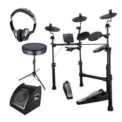Carlsbro CSD100 Electric Drum Kit inc Stool, Headphones and Drum Monitor