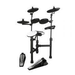 Carlsbro CSD120 Compact Electronic Drum Kit - 5 Piece USB Digital Set Foldable