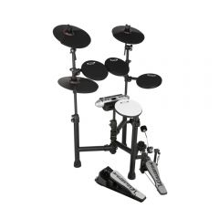 Carlsbro CSD130 Compact Electric Drum Kit - 5 Piece USB Digital Drums Foldable