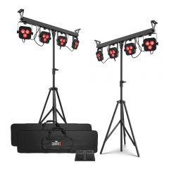 2x Chauvet DJ 4Bar LT BT LED Parbar Lighting System