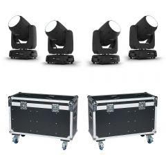 4x Chauvet DJ Intimidator Beam 355 IRC LED Moving Head 100Winc. 2x Flightcase