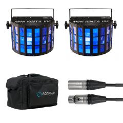 2x Chauvet DJ Mini Kinta IRC inc. Carry Case and DMX Cable
