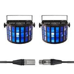 2x Chauvet DJ Mini Kinta IRC inc. DMX Cable