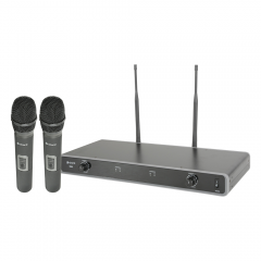 Chord Dual UHF Handheld Wireless Microphone Radio System CH38 608.050 + 606.175Mhz