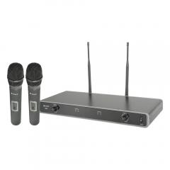 Chord Dual UHF Handheld Wireless Microphone Radio System CH38 611.775 + 613.825MHz