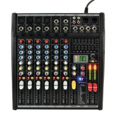 Citronic CSL-8 8 Channel USB Sound Mixer with FX
