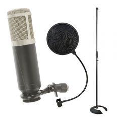 Citronic CCU3 USB Studio Condenser Microphone for Recording Computer Bundle