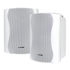 "Clever Acoustics BGS 35T Pair White Speaker 5"" 100V 8OHM Background PA System"