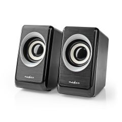 Nedis PC speaker 2.0 18W 3.5mm Jack Computer Speakers Pair USB Powered