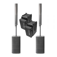 2x dB Technologies ES 1002 1800W Active Array Speaker Sound System inc Cover