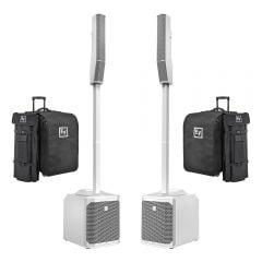 Electro-Voice EVOLVE 30M Portable Column Speaker System, White (Bundle)