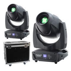 2x eLumen8 Evora 1000 Spot LED Moving Head 180W DJ Disco Lighting Package