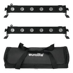 2x Eurolite 0.5m LED RGBW Lighting Bar inc. Carry Bag