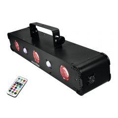 Eurolite LED Multi FX Laser Bar Strobe UV Moonflower DJ Disco Multi Effect Light inc Remote