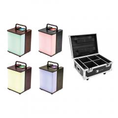 4x Eurolite LED Battery Uplighter RGBW 15W LED Lighting Mood inc Charging Case