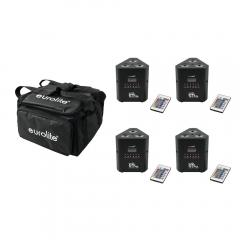 4x Eurolite LED Battery Uplighter Triangle TL-3 TCL Trusslight Lighting Wireless DMX