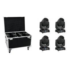 4x Eurolite TMH-X12 LED 120W Moving Head Spot Gobo Prism DJ Disco Lighting Bundle