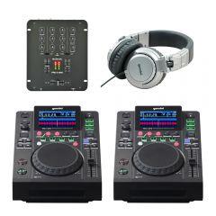 2x Gemini MDJ-600 & Citronic Mixer DJ Mixing Package 3