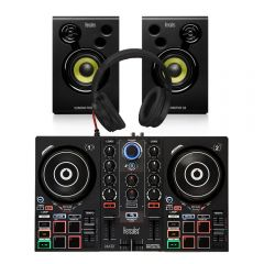 Hercules Inpulse 200 Controller + Monitor Bundle DJ Disco inc Headphones / Leads