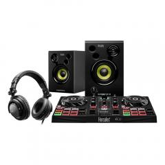 Hercules DJ Learning Kit inc Inpulse 200 Controller & Monitor Speakers Disco Studio Setup