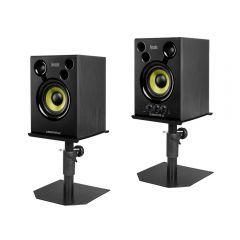 Hercules Monitor 42 Speaker Sound System Studio DJ inc Speaker Stands Bundle