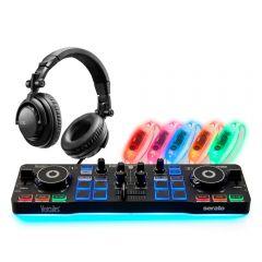 Hercules DJ Party Set inc Starlight Controller , Headphones & LED Wristbands Disco Setup