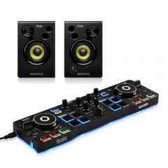 Hercules Starlight Serato DJ Controller & Monitor 32 Speakers Disco Starter Package