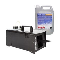 HQ Power 800W Snow Machine Snowing Effect Party Christmas inc 5L Fluid