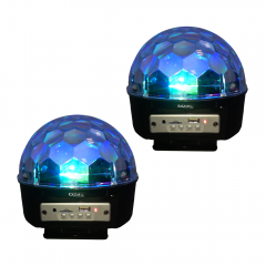 2x Ibiza Light Rechargeable Astro Effect Lights with Bluetooth