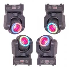 4x Ibiza Light MHBEAM40-FX LED Moving Head Beam 40W