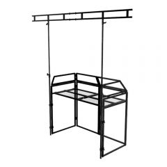 Ibiza Sound DS40 DJ Booth Stand inc White/Black Lycra,Carry Bag and Overhead Gantry