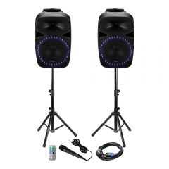 Ibiza Sound PKG15A-SET 1000W Sound System with Bluetooth & USB inc. Microphone