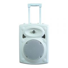 Ibiza Sound PORT8 Portable Stand-Alone PA System (White) inc. UHF Microphone