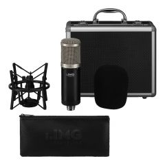 IMG Stageline ECMS-90 Studio Condenser Microphone inc. Mount and Flightcase