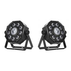 2x Leuchtkraft PARL-7730 LED PAR Spot Light with 3-in-1 Effect