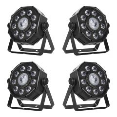 4x Leuchtkraft PARL-7730 LED PAR Spot Light with 3-in-1 Effect