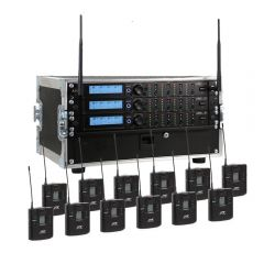 JTS-12 Way R-4 'All Racked Up' Complete Wireless System inc. Bodypacks & Flightcase