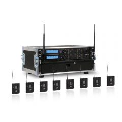 JTS 8-Way R-4 'All Racked Up' Complete Wireless System inc. Mics & Flightcase