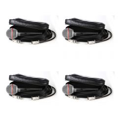 4x JTS TM-929 Handheld Vocal Microphones inc. Leather Pouchs and XLR Cables
