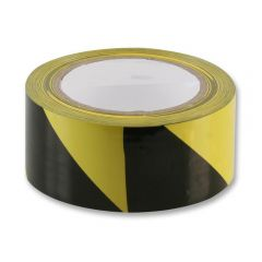 Laminated Hazard Floor Marking Tape - 48mm x 33m, Black / Yellow